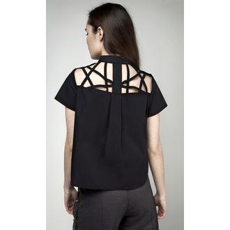 Ženska Majica DISTURBIA - Abstract Crop - Črna, DISTURBIA