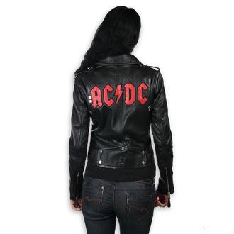 Ženska Usnjena Jakna AC-DC - LNTC Črna -, NNM, AC-DC
