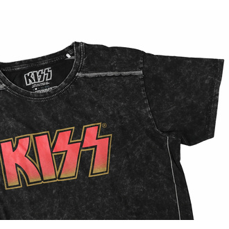 Moška majica KISS - Klasični logo - Snow Wash - ROCK OFF, ROCK OFF, Kiss