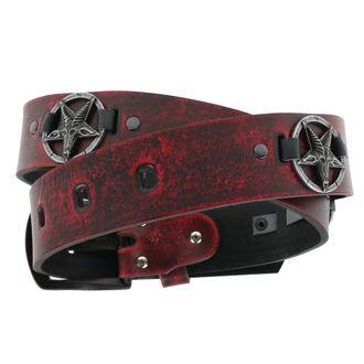 Pas Bafomet - rdeča, Leather & Steel Fashion