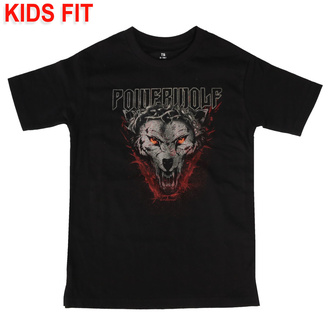 Otroška majica Powerwolf - (Icon Wolf) - črna - Metal-Kids, Metal-Kids, Powerwolf