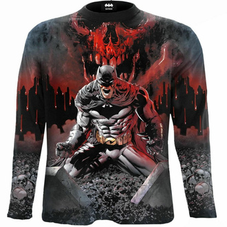 Moška majica z dolgimi rokavi SPIRAL - Batman -ASYLUM WRAP - Črna, SPIRAL