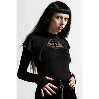 Ženska majica z dolgimi rokavi KILLSTAR - Aysling Cape - Črna, KILLSTAR