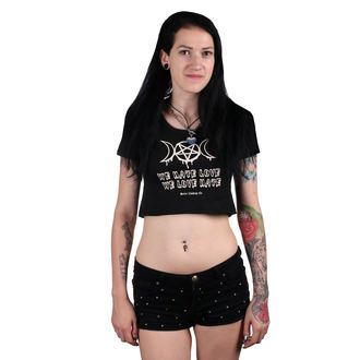 Ženski crop top - Irrensposible hate - BELIAL, BELIAL