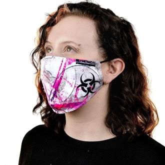 Maska CHEMICAL BLACK - BIOHAZARD - WHITE / PINK, CHEMICAL BLACK