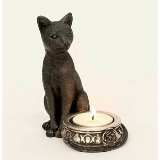 Dekoracija (svečnik) ALCHEMY GOTHIC - Black Cat, ALCHEMY GOTHIC