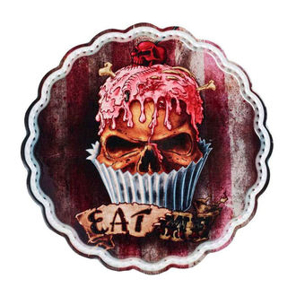 Zidna dekoracija / servirna plošča / podstavek ALCHEMY GOTHIC - Skull Cupcake, ALCHEMY GOTHIC