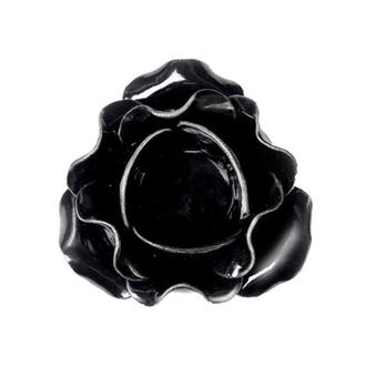 Svečnik (dekoracija) ALCHEMY GOTHIC - Large Black Rose, ALCHEMY GOTHIC