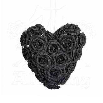 Dekoracija ALCHEMY GOTHIC - Black Rose Heart, ALCHEMY GOTHIC
