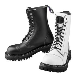 škornji STEADY´S - 10 očesci - Črna in bela - STE/10_black/white