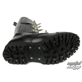 usnje čevlji ženske - Scare 4-buckles - BOOTS & BRACES - černé, BOOTS & BRACES