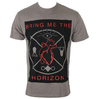 majica moški Bring Me The Horizon - HEARTS & SYMBOLS - GRY - BRAVADO, BRAVADO, Bring Me The Horizon