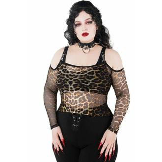 Ženska majica z dolgimi rokavi (top) KILLSTAR - Catitude Fishnet - LEO, KILLSTAR