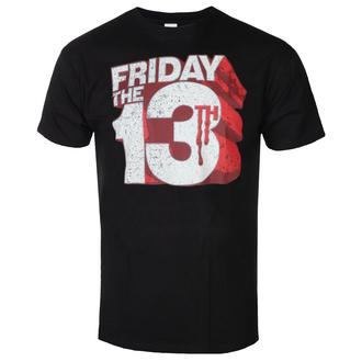 Moška majica Friday The 13th - Block Logo - Črna - HYBRIS, HYBRIS, Friday the 13th