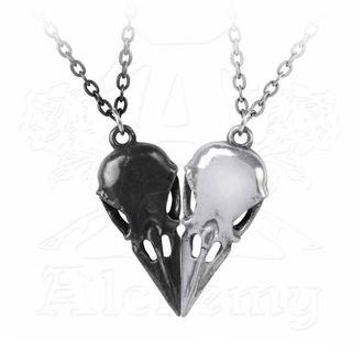 Set dveh ogrlic z obeskom ALCHEMY GOTHIC - Coeur Crane, ALCHEMY GOTHIC