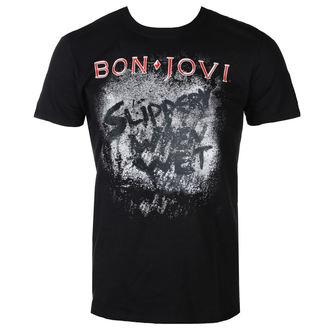 Moška Metal Majica Bon Jovi - SLIPPERY WHEN WET ALBUM - PLASTIC HEAD, PLASTIC HEAD, Bon Jovi