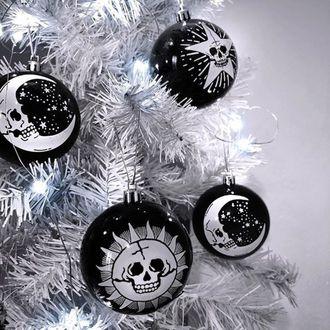 Božična dekoracija (kroglice) KILLSTAR - Hexmas - Črna, KILLSTAR