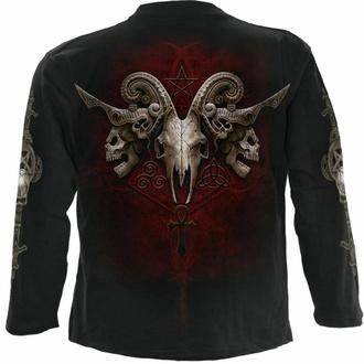 Moška majica z dolgimi rokavi SPIRAL - FACES OF GOTH - Črna, SPIRAL