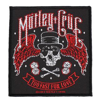 Našitek Mötley Crüe - Too Fast For Love - RAZAMATAZ, RAZAMATAZ, Mötley Crüe