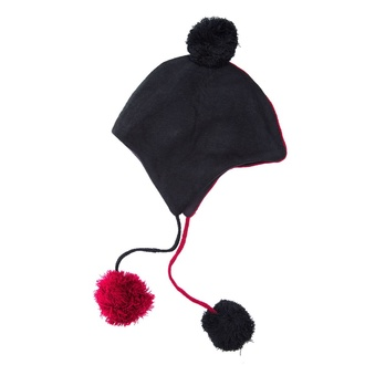 Kapa Beanie HEARTLESS - DAEMON - ČRNA / RDEČA, HEARTLESS