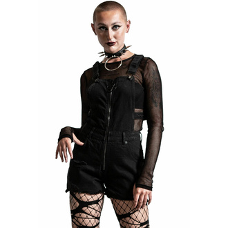 Ženske kratke hlače KILLSTAR - Damaged Goods Overalls - Črna, KILLSTAR