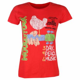 Ženska majica Woodstock - Vtge Classic Poster RED - ROCK OFF, ROCK OFF