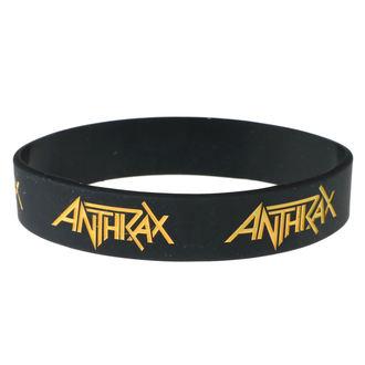 Gumijasta zapestnica Anthrax - ROCK OFF, ROCK OFF, Anthrax