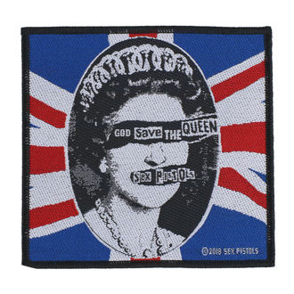 Našitek Sex Pistols - God Save The Queen - RAZAMATAZ, RAZAMATAZ, Sex Pistols