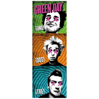 Zastava Green Day - 1-2-3, HEART ROCK, Green Day