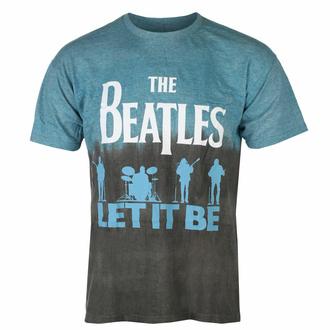 Moška majica Beatles - Let It Be Split BLUE Dip-Dye - ROCK OFF - BEATTEE416MDD