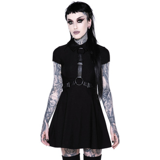 Ženska obleka KILLSTAR - Disgrace Skater Dress - ČRNA - KSRA002146
