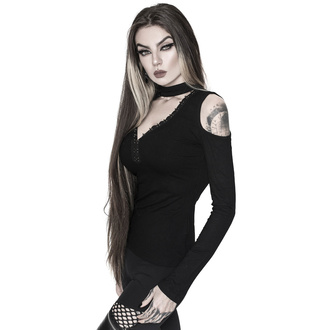 Ženska majica z dolgimi rokavi KILLSTAR - Downward Spiral Cold-Shoulder Top, KILLSTAR