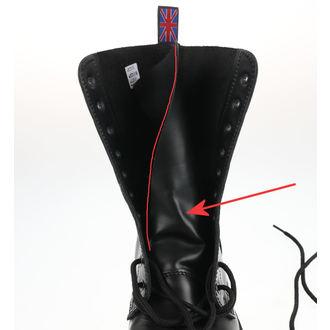 čevlji NEVERMIND - 10 očesca - Črno Polido - ZAŠČITA, NEVERMIND