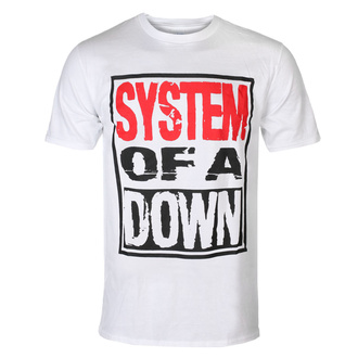 Moška majica System Of A Down - Triple Stack - WHT - ROCK OFF, ROCK OFF, System of a Down