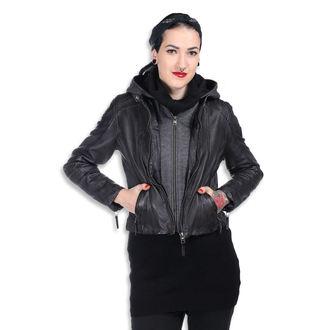 Ženska usnjena jakna AC-DC - Antracite - NNM