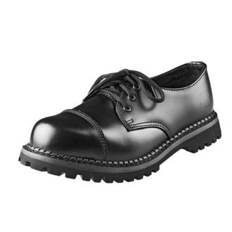 Čevlji GRINDERS - 3 očesca - Regent 2 - Črna, GRINDERS