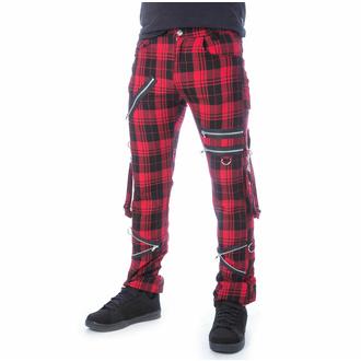 Moške hlače CHEMICAL BLACK - ETIENNE - RED TARTAN, CHEMICAL BLACK
