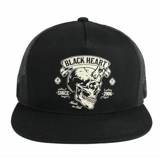 Kapa s šiltom BLACK HEART - DEVIL SKULL, BLACK HEART