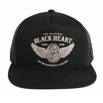 Kapa s šiltom BLACK HEART - WINGS - ČRNA, BLACK HEART