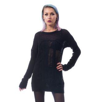 Ženski pulover HEARTLESS - FRACTION - ČRNA, HEARTLESS