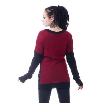 Ženski pulover HEARTLESS - FRACTION - ČRNA / RDEČA, HEARTLESS