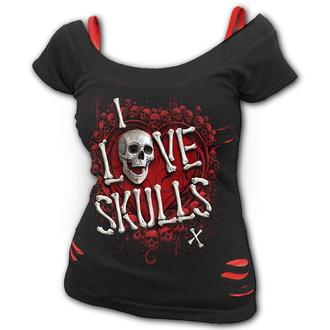 Ženska majica - LOVE SKULLS - SPIRAL, SPIRAL