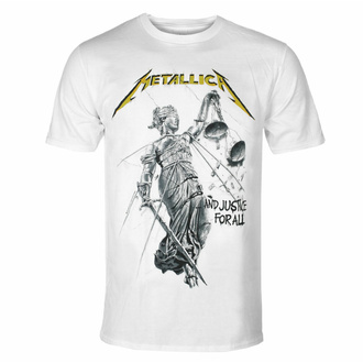 Moška majica METALLICA - AND JUSTICE FOR ALL - BELA - PLASTIC HEAD, PLASTIC HEAD, Metallica