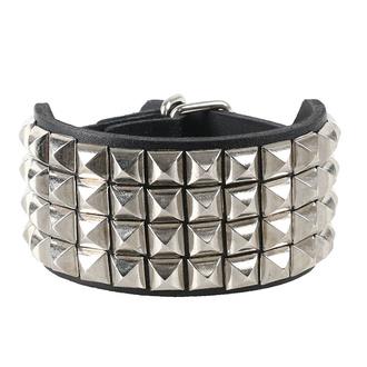 Zapestnica Pyramids 4, Leather & Steel Fashion