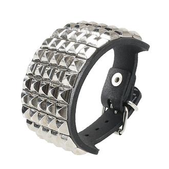 Zapestnica Pyramids 5, Leather & Steel Fashion