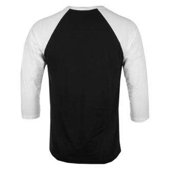 Moška majica s 3/4 rokavi Jaws - Shark Smoke - Baseball - Belo-črna - HYBRIS, HYBRIS, Žrelo