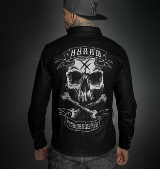 Moška srajca HYRAW - ADDICT - SIVA - FW21-M32-CH
