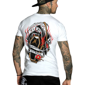 Moška majica HYRAW - Graphic - COFFIN WHITE, HYRAW