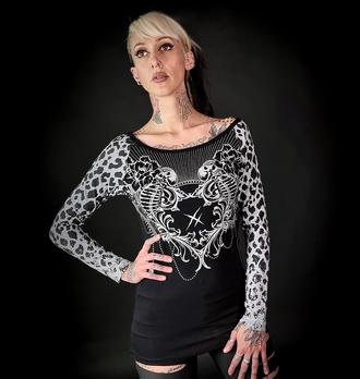 Ženska majica z dolgimi rokavi HYRAW - MANDALA, HYRAW