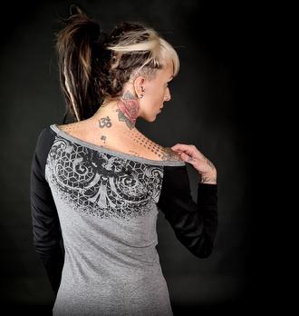 Ženska majica z dolgimi rokavi HYRAW - ORNAMEN, HYRAW